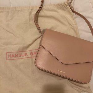 Mansur Gavriel Calf Envelope Cross Body Blush Pink